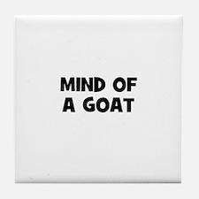 mind of a goat Tile Coaster