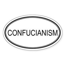 CONFUCIANISM Oval Decal