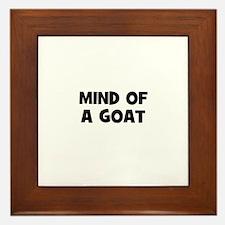 mind of a goat Framed Tile