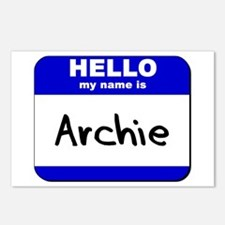 hello my name is archie  Postcards (Package of 8)