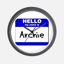 hello my name is archie  Wall Clock