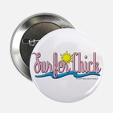 Surfer Chick Button