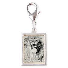 Kindle Sleeve Vintage Lion Silver Portrait Charm