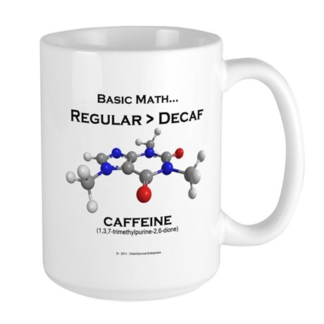 Basic Math Caffeine Mugs
