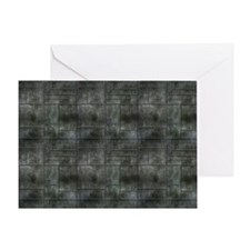 Industrial Grey Metal Greeting Card
