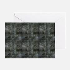 Industrial Grey Metal Greeting Card