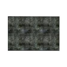 Industrial Grey Metal Rectangle Magnet