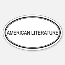AMERICAN LITERATURE Oval Decal