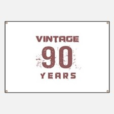 Vintage 90 Years Old Banner