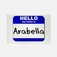 hello my name is arabella Rectangle Magnet