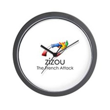The French Attack Wall Clock