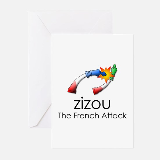 The French Attack Greeting Cards (Pk of 10)