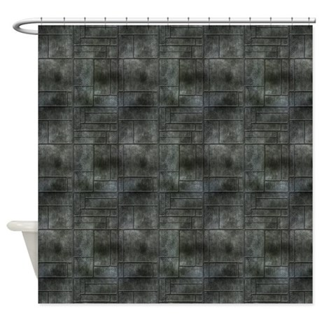 Industrial Grey Metal Shower Curtain By Admin Cp37802842