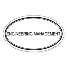 ENGINEERING MANAGEMENT Oval Decal