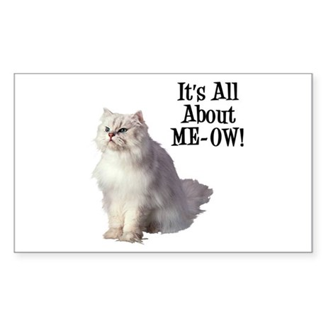 ME-OW Persian Cat Rectangle Sticker