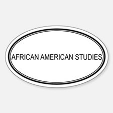 AFRICAN AMERICAN STUDIES Oval Decal