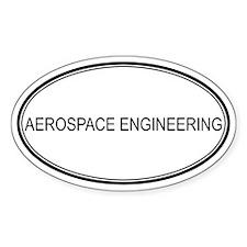 AEROSPACE ENGINEERING Oval Bumper Stickers