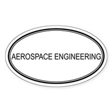 AEROSPACE ENGINEERING Oval Decal