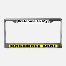 Mom's Baseball Taxi License Plate Frame