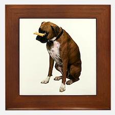 Brindle Boxer Photo Framed Tile