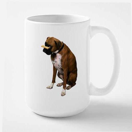 Brindle Boxer Photo Large Mug