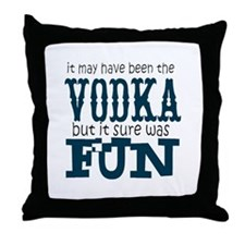 Vodka fun Throw Pillow