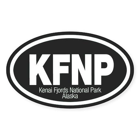 Kenai Fjords National Park Oval Sticker