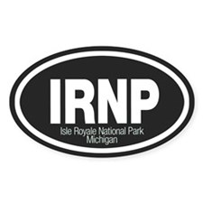 Isle Royale National Park Oval Decal