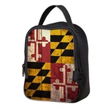 Wooden Maryland Flag2 Neoprene Lunch Bag