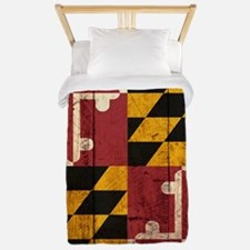 Wooden Maryland Flag2 Twin Duvet