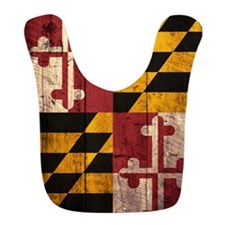 Wooden Maryland Flag2 Bib