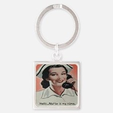 Nurse is my Name Square Keychain