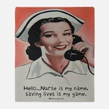 Nurse is my Name Throw Blanket