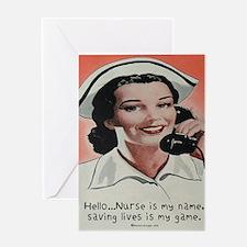 Nurse is my Name Greeting Card