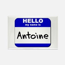 hello my name is antoine Rectangle Magnet
