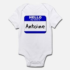 hello my name is antoine  Infant Bodysuit