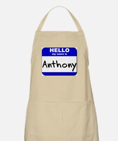 hello my name is anthony  BBQ Apron