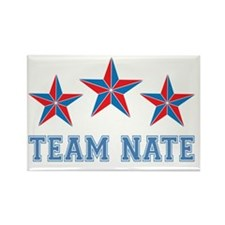 Team Nate - David, Holly and Nate Rectangle Magnet