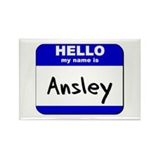 hello my name is ansley Rectangle Magnet