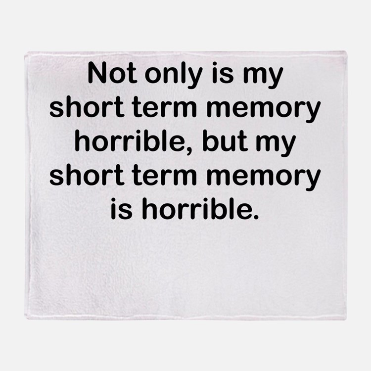 Short Term Memory Throw Blanket