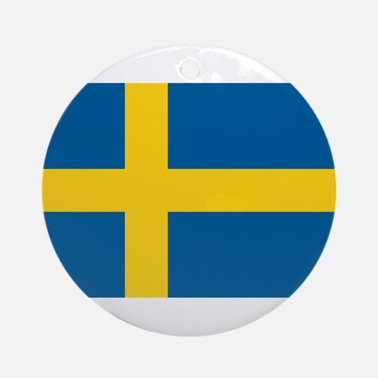 Sweden Flag Ornament (Round)
