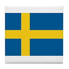 Sweden Flag Tile Coaster