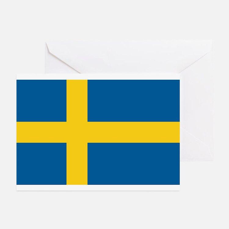 Sweden Flag Greeting Cards (Pk of 10)