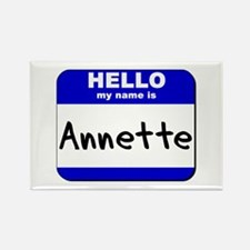 hello my name is annette Rectangle Magnet
