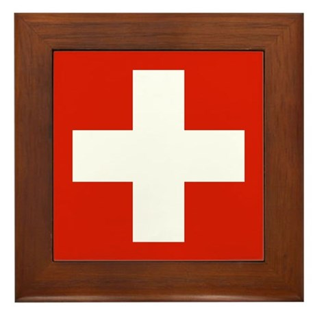 Switzerland Flag Framed Tile