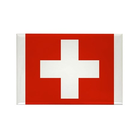 Switzerland Flag Rectangle Magnet (100 pack)