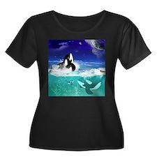 Fantastic orcas Plus Size T-Shirt