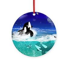 Fantastic orcas Ornament (Round)