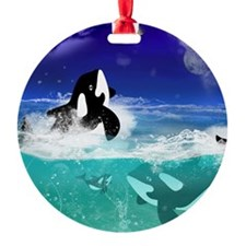 Fantastic orcas Ornament