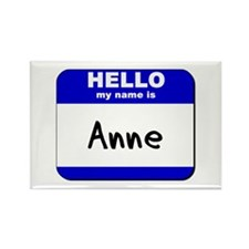hello my name is anne Rectangle Magnet
